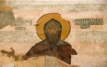 Фреска в Преображенском монастыре, Ярославль, лик святого