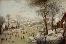 Зимний пейзаж с ловушкой для птиц - Брейгель, Питер (Младший)