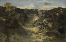 Скалистый пейзаж - Руссо, Теодор