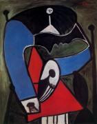 Женщина, сидящая в кресле, 1948 - Пикассо, Пабло