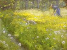 Мария Кройер в саду в Скагене, 1892 - Кройер, Педер Северин