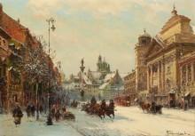 Вид Варшавы зимой - Хмелинский, Владислав