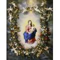 Мадонна с Младенцем и ангелами в цветочной гирлянде - Брейгель, Ян (Старший)