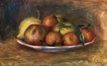 Натюрморт с мандаринами, яблоками и лимоном - Ренуар, Пьер Огюст