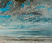 Закат над морем - Курбе, Гюстав