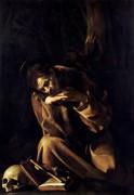 Святой Франциск в раздумьи - Караваджо, Микеланджело Меризи да