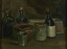 Натюрморт с бутылками и глиняной посудой (Still Life with Bottles and Earthenware), 1884-85 - Гог, Винсент ван