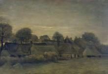 Деревня на закате (Village at Sunset, 1884 - Гог, Винсент ван