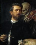 Автопортрет со смертью, играющей на скрипке - Боклин, Арнольд