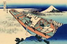 Ушибори в провинции Хитачи - Кацусика, Хокусай