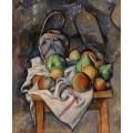 Натюрморт с фруктами и кувшином - Сезанн, Поль