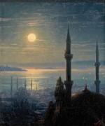 Вид на Босфор в лунном свете - Айвазовский, Иван Константинович