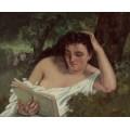 Читающая женщина - Курбе, Гюстав