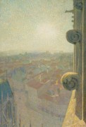 Нанси, вид кафедрального собора, солнце, 1907 - Коль, Мишель-Огюст