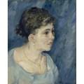 Портрет женщины в голубом (Portrait of a Woman in Blue), 1885 - Гог, Винсент ван