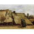 Изба и копающая женшина (Cottage with Woman Digging), 1885 - Гог, Винсент ван