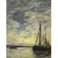 Парусник на воде, 1885-90 - Буден, Эжен