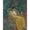 Молодая женщина с голубем - Лебаск, Анри
