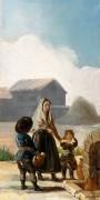 Женщина и двое детей у источника - Гойя, Франсиско Хосе де