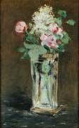 Цветы в хрустальной вазе - Мане, Эдуард