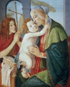 Мадонна с Младенцем и Иоанном Крестителем - Боттичелли, Сандро
