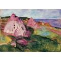 Пейзаж с фиолетовыми скалами - Мунк, Эдвард