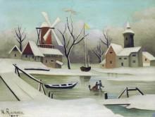 Зимний пейзаж - Руссо, Анри