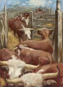 Стадо коров - Грос, Георг