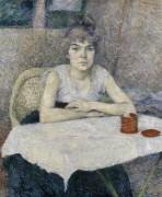 Молодая женщина за столом - Тулуз-Лотрек, Анри де