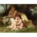 Девушка созерцающая за детьми - Бугро, Адольф Вильям