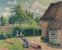 Крестьянское подворье, 1892 - Писсарро, Камиль