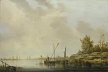 Река с ветряными мельницами вдалеке - Кейп, Альберт Якобз