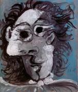 Лицо на синем фоне, 1965 - Пикассо, Пабло