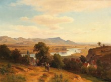 Речной пейзаж - Халауска, Людвиг