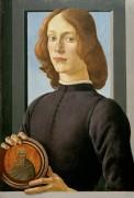 Портрет юноши с медальоном - Боттичелли, Сандро