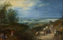 Пейзаж с крестьянами - Брейгель, Ян (Старший)