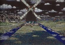 Ветряная мельница в Голландии - Кандинский, Василий Васильевич