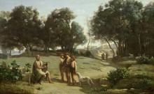 Пейзаж с Гомером и пастухами - Коро, Жан-Батист Камиль