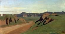 Пейзаж с акведуом - Коро, Жан-Батист Камиль