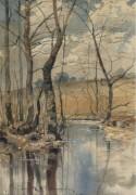 Лесной пруд, 1882 - Хассам, Фредерик Чайлд