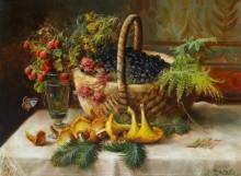 Натюрморт с ягодами и грибами - Зацка, Ханс