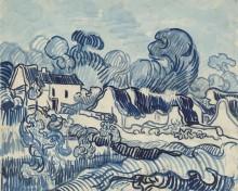 Пейзаж с домами (Landscape with Houses), 1890 - Гог, Винсент ван