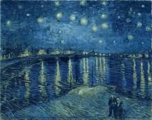 Звездная ночь над Роной (Starry Night over the Rhone), 1888 - Гог, Винсент ван
