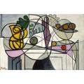 Кувшин и ваза с фруктами - Пикассо, Пабло