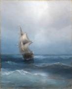 Российский двухмачтовый корабль в открытом море - Айвазовский, Иван Константинович