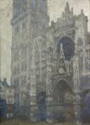 Кафедральный собор в Руане, пасмурная погода - Моне, Клод