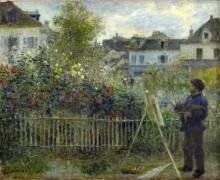 Клод Моне, рисующий свой сад в Аржантее - Ренуар, Пьер Огюст