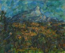 Гора Сент-Виктуар, вид со стороны Лов (Пейзаж В Эксе) - Сезанн, Поль