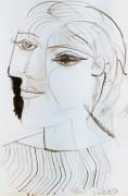 Левый профиль лица, 1937 - Пикассо, Пабло
