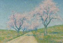 Дорога между цветущими деревьями, 1934 - Ложе,  Ашиль